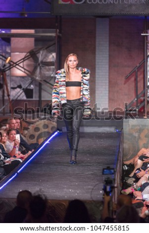 A model walks the runway for British Designer Gomez-Gracia during the benefit Fashion Show for the Shuzz Organization at The Seminole Hotel and Casino in Coconut Creek, Florida on March 15th, 2018 #1047455815