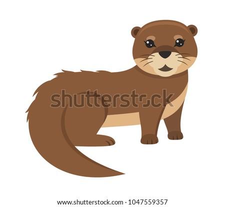 Lovely otter vector illustration