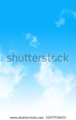 Cloud in the Blue Sky Background #1047918655
