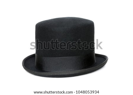 Black top hat isolated on white background #1048053934