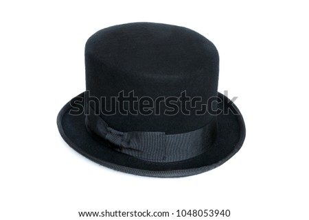 Black top hat isolated on white background #1048053940