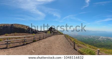 On the verge of a magnificent volcano, Vesuvius #1048116832