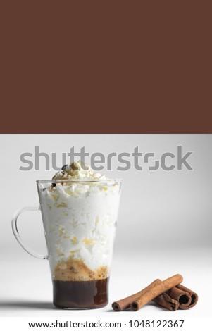 irish coffee  with cinnamon #1048122367