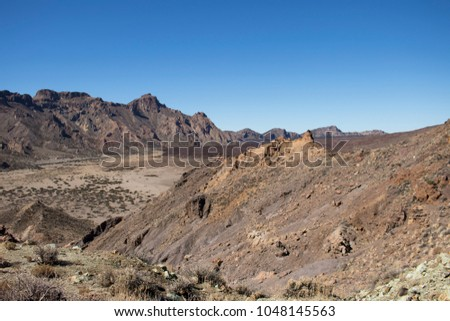 Teide mountain and rocky surroundings #1048145563