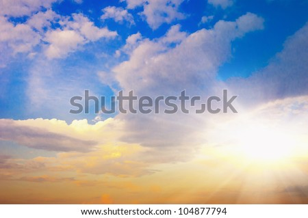 blue sky and clouds #104877794
