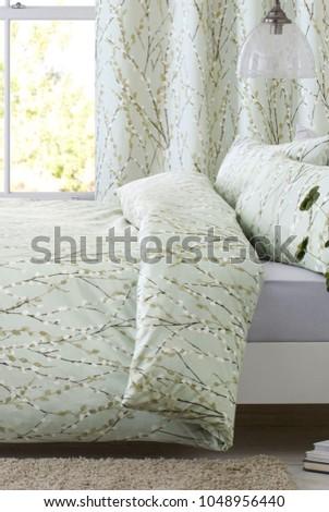 Cozy modern bedroom interior #1048956440