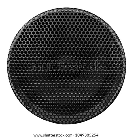 Texture background of an old speaker grille Macro photo White isolated background #1049385254