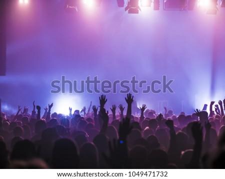 Concert Crowd at rock concert #1049471732