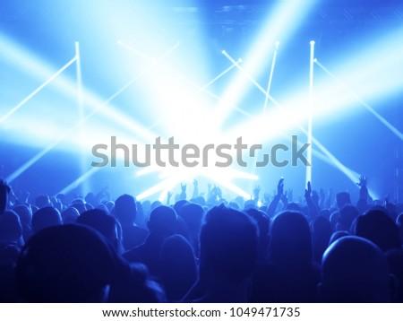 Concert Crowd at rock concert #1049471735