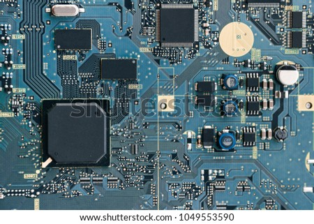 Printed circuit board with a chip #1049553590