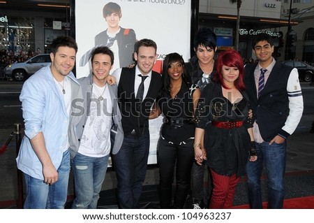 American Idol Contestants at the Los Angeles Premiere of '17 Again'. Grauman's Chinese Theatre, Hollywood, CA. 04-17-09 #104963237