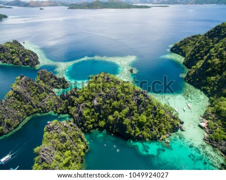 Coron Island in Philippines, aerial view #1049924027