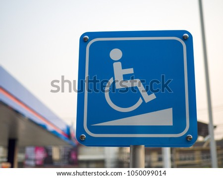Ramp Access Sign for the Disabled,  wheelchair ramps #1050099014