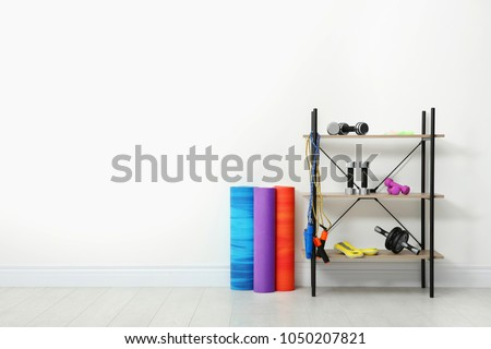 Sports inventory in physiotherapy gym