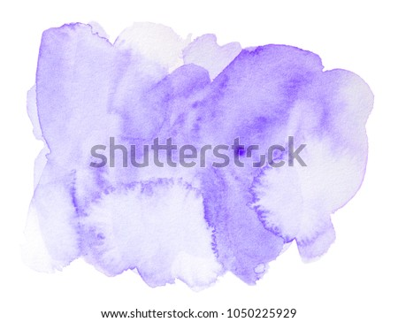 Abstract purple watercolor splash isolated on white background #1050225929