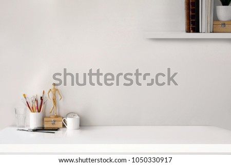 Workspace concept : creative work place desk. #1050330917