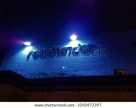 Roadmender music venue in Northampton, UK outside view at night - 16.03.2018  #1050472397