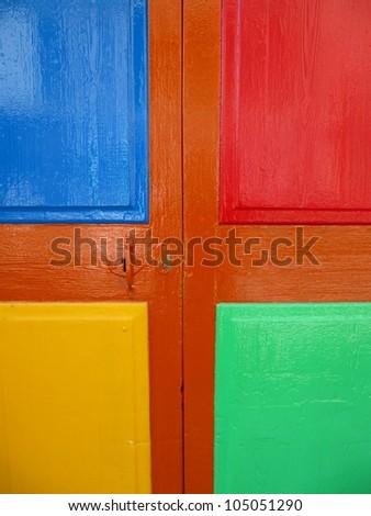 Door colors, colorful paint. #105051290