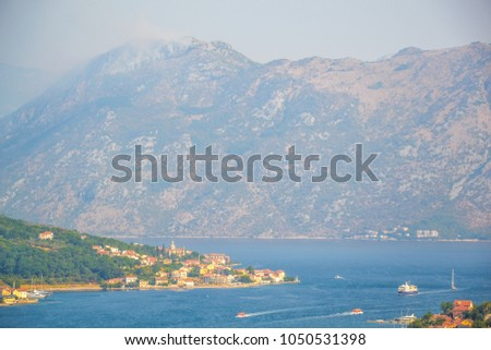 Kotor Bay seen from a hill, Montenegro #1050531398