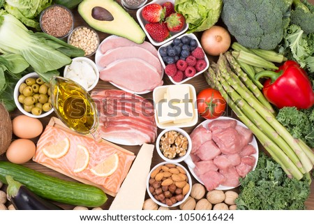 Food recomended on low carb diet or ketogenic diet #1050616424