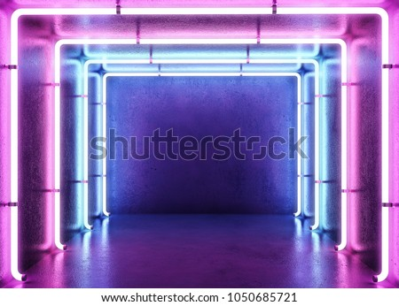Neon abstract background Royalty-Free Stock Photo #1050685721