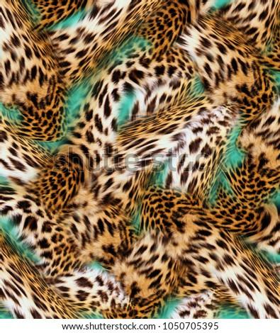 leopard  skin background