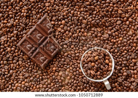 Coffee beans background #1050712889
