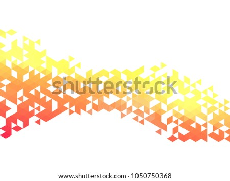 Abstract triangles creative backgorund. Triangles banner design template. #1050750368