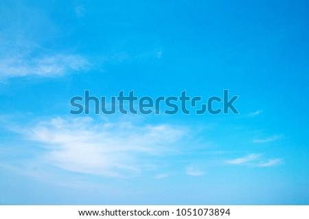White clouds in blue sky #1051073894