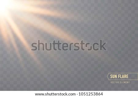 Realistic Sun flare. starburst vector, transparent white light #1051253864