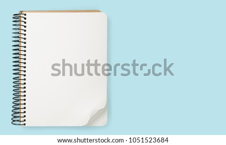 School notebook on a background #1051523684
