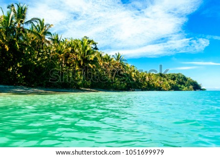 Landscape of the beach of Cahuita, Costa Rica #1051699979