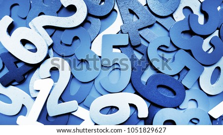 Background of numbers. from zero to nine. Background with numbers. Numbers texture #1051829627