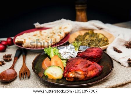 Handmade tandoori Grill Indian food #1051897907