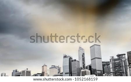 Hong Kong Island skyscrapers. #1052168159