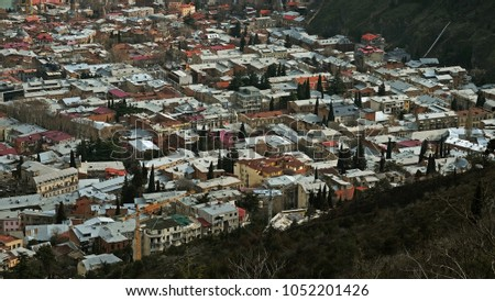 View of the city of Tbilisi #1052201426