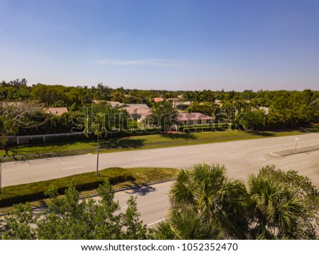South Florida Urban Aerial Photography #1052352470