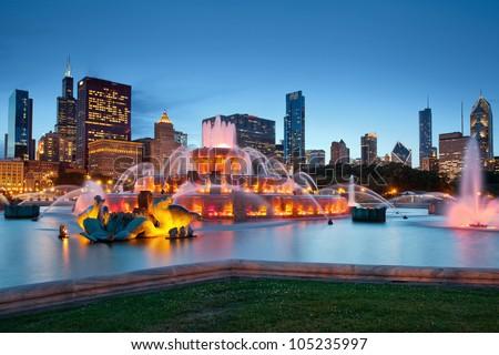 Buckingham Fountain. Image of Buckingham Fountain in Grant Park, Chicago, Illinois, USA.