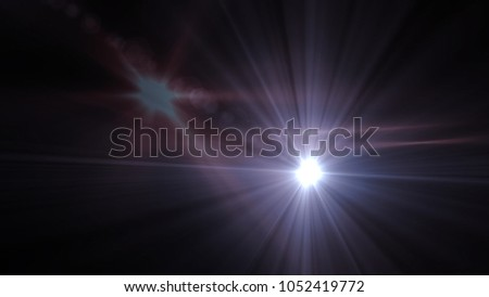 sunlight special lens flare light effect. Sun flash with rays and spotlight #1052419772