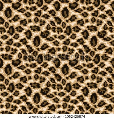 Seamless leopard skin #1052425874