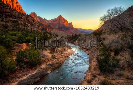 Sunset Colors, Zion National Park, Utah #1052483219