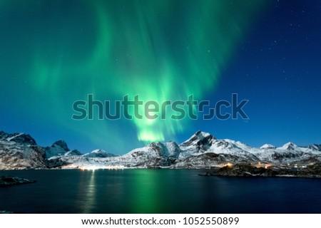 Northern Lights in Lofoten Islands #1052550899