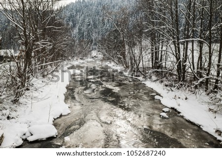 carpathian mountain river #1052687240