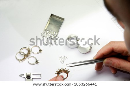 diamond jewelry production and design. hand made special stone selection #1053266441