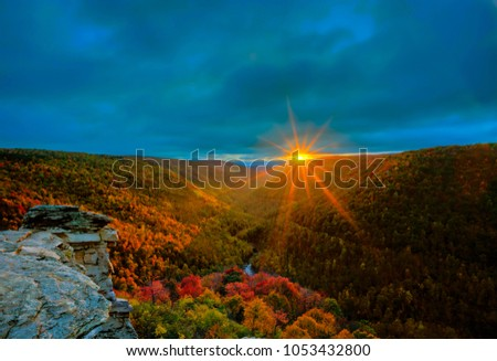 West Virginia sunset in Fall #1053432800