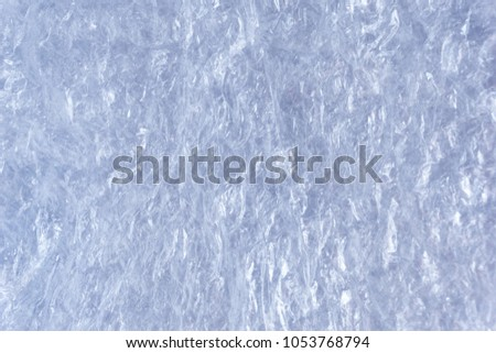 Crumpled polyethylene backdrop texture, flexible transparent plastic material #1053768794