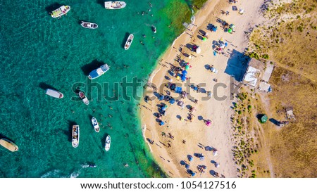 areal view from the top of rabbit island in (jazier el aranib) Tripoli , Lebanon Royalty-Free Stock Photo #1054127516