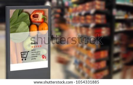digital display Intelligent Digital moniter Interactive artificial intelligence digital advertisement Signage