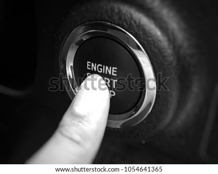 Engine start button  #1054641365