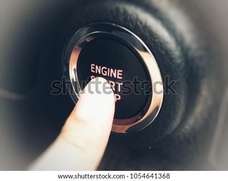 Engine start button  #1054641368